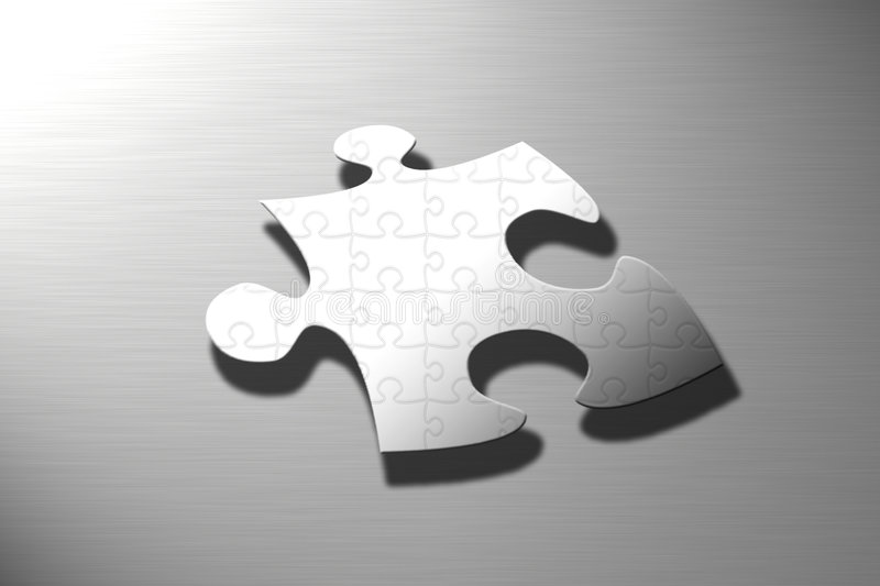Puzzle on puzzle royalty free illustration