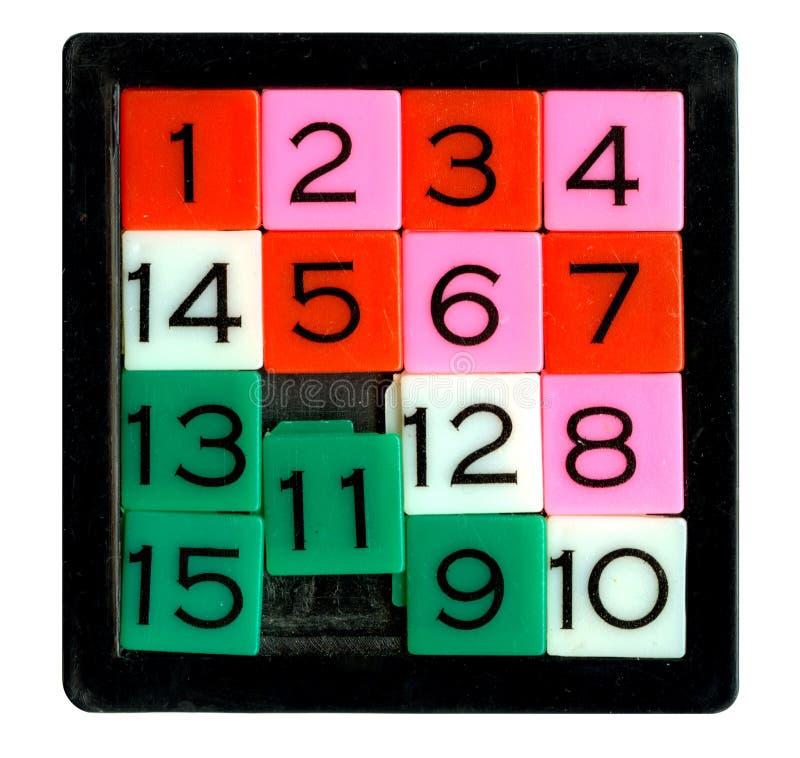 Puzzle quindici fotografia stock