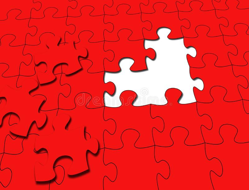 Puzzle Rosso Fotografia Stock