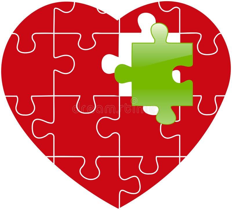 Puzzle rosso immagini stock