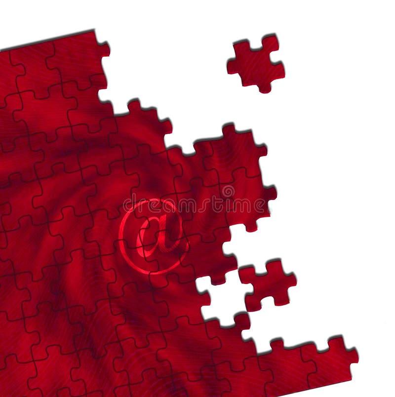 @ puzzle rouge photographie stock libre de droits