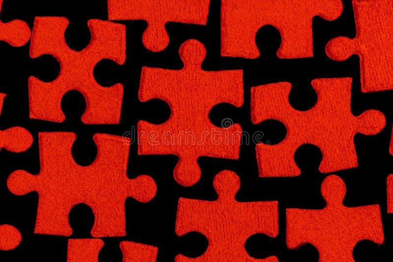 Puzzle rouge photos libres de droits