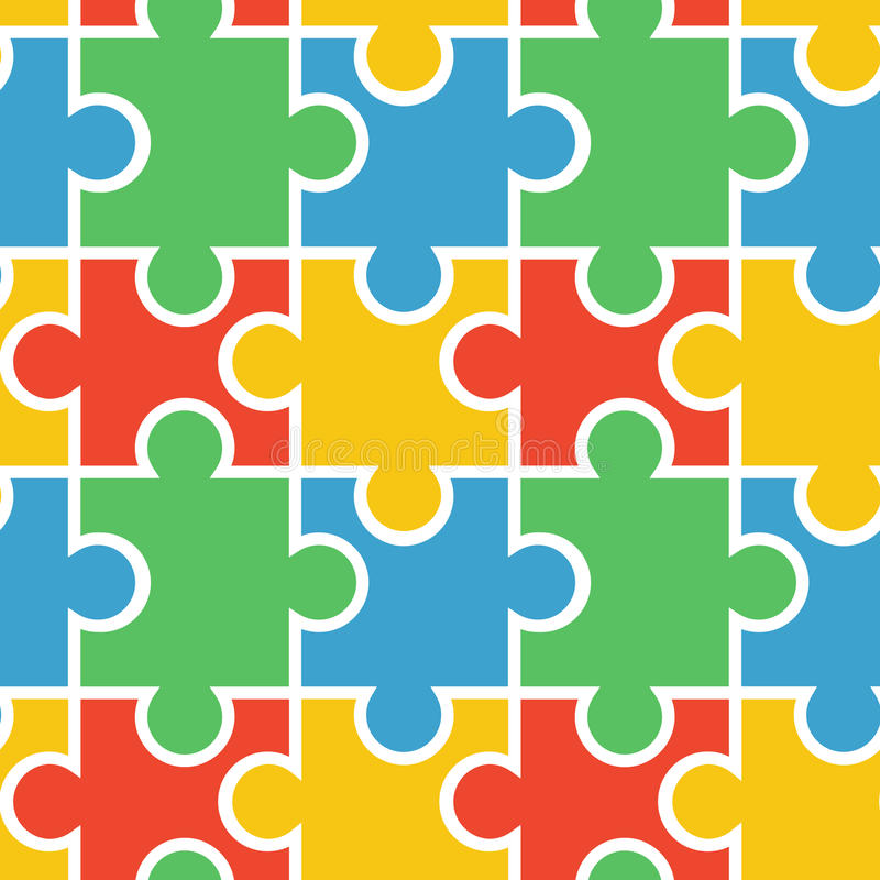 Puzzle seamless background vector illustration