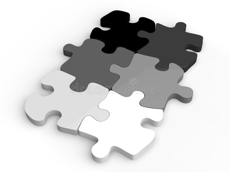 Puzzle in shades of gray royalty free illustration