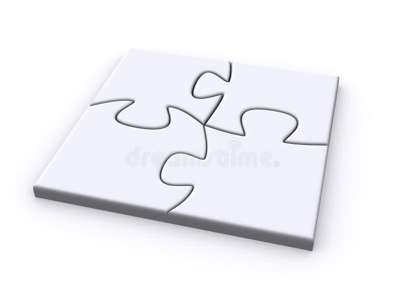 Puzzle simple illustration de vecteur