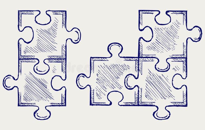 Download Puzzle sketch stock vector. Image of grunge, handwritten - 26975324