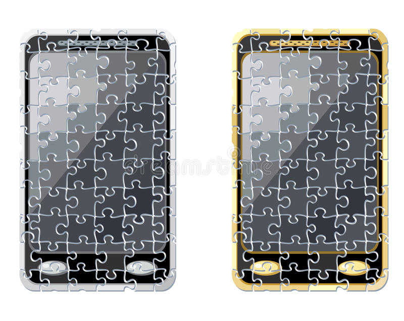 Download Puzzle smart phone stock vector. Image of cell, phone - 24183727