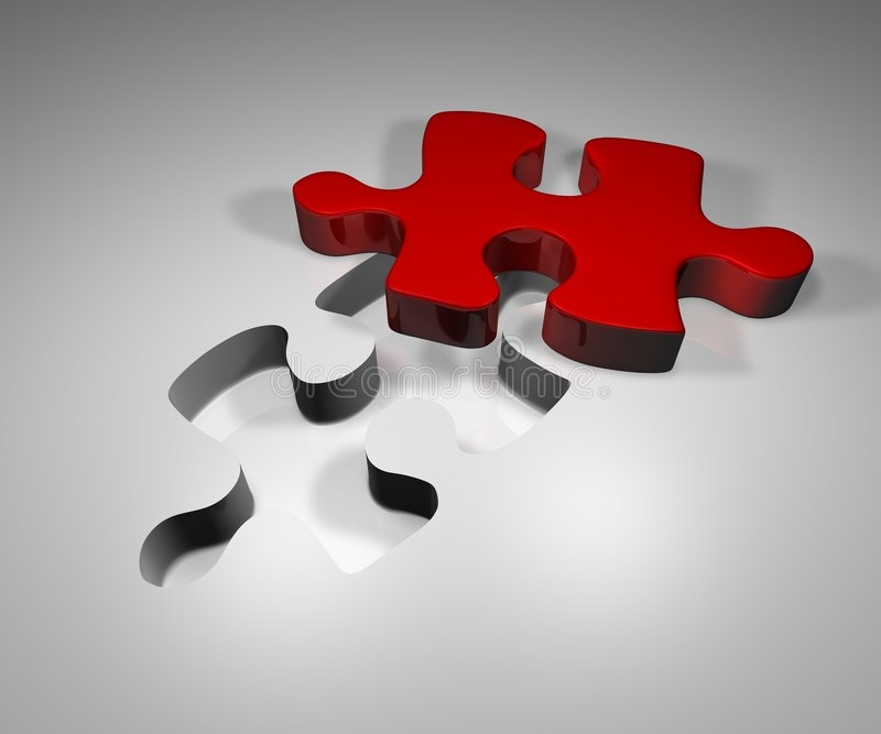 Puzzle solution royalty free illustration