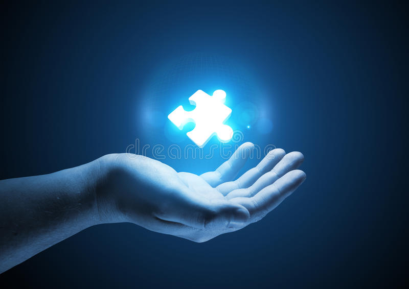 Download Puzzle Solutions stock photo. Image of idea, support - 38996360