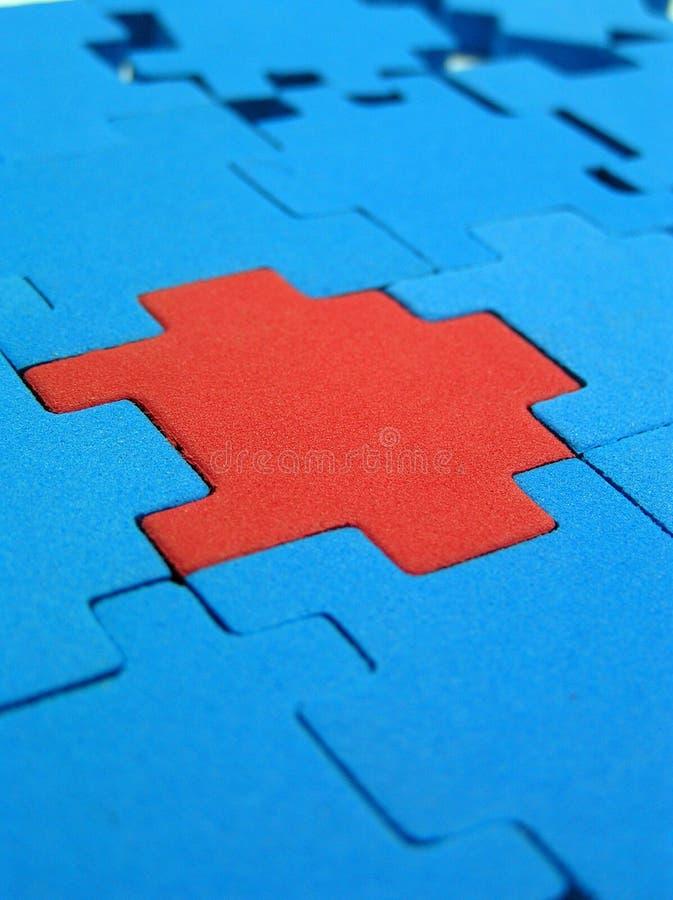 Puzzle - soluzione alternativa fotografia stock