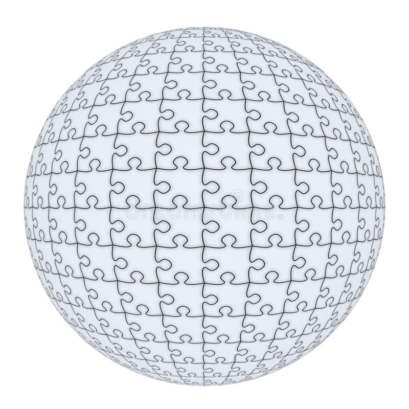 Puzzle sphere royalty free illustration