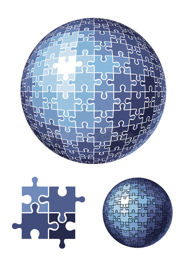 Free Puzzle Sphere / Vector Illustration Stock Photos - 4372563