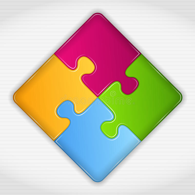 Puzzle Square vector illustration