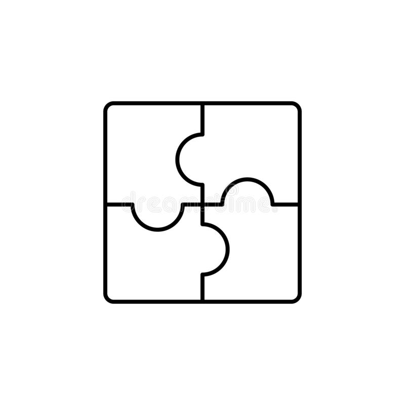 Puzzle, strategy icon. Simple thin line, outline vector of Business management icons for UI and UX, website or mobile vector illustration