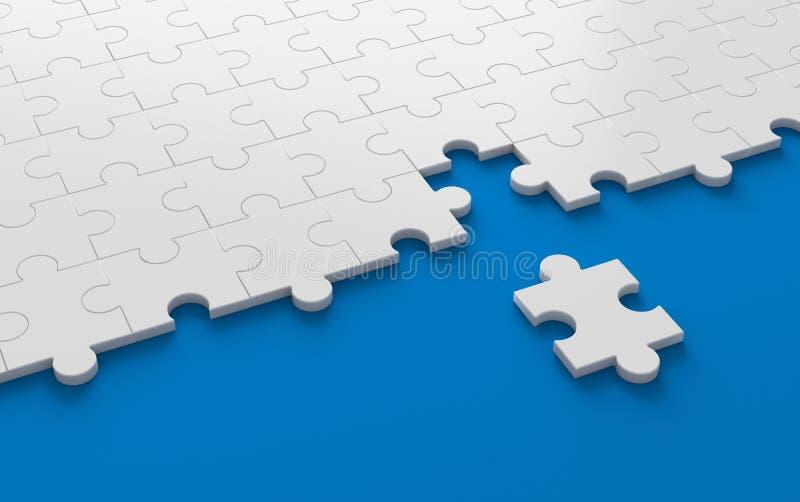 Puzzle, struttura del modello con spazio nella strategia e soluti royalty illustrazione gratis