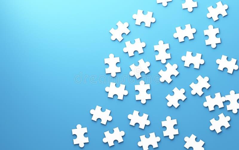 Puzzle, struttura del modello separata nella strategia e solutio illustrazione vettoriale