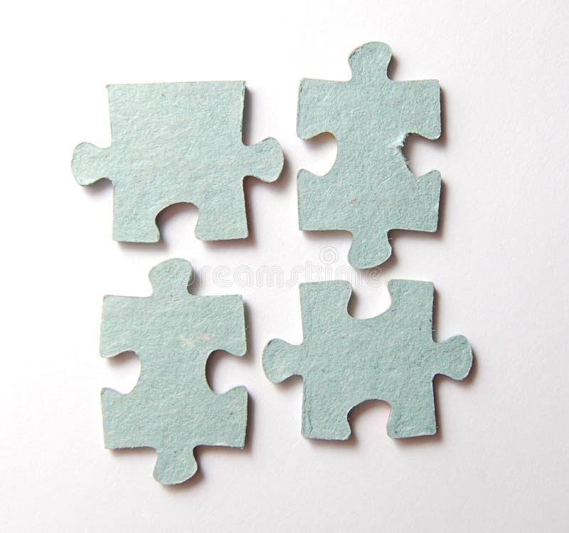 Puzzle sur le blanc image libre de droits