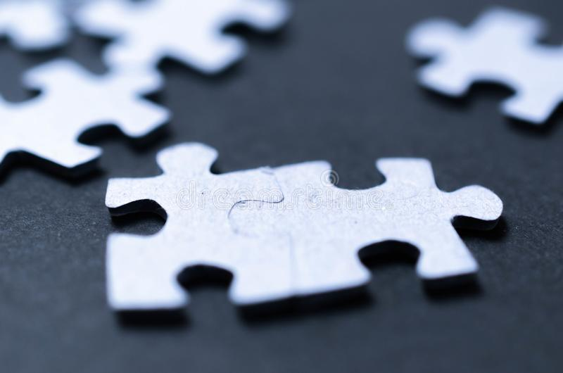 Puzzle team business concept royalty free stock images