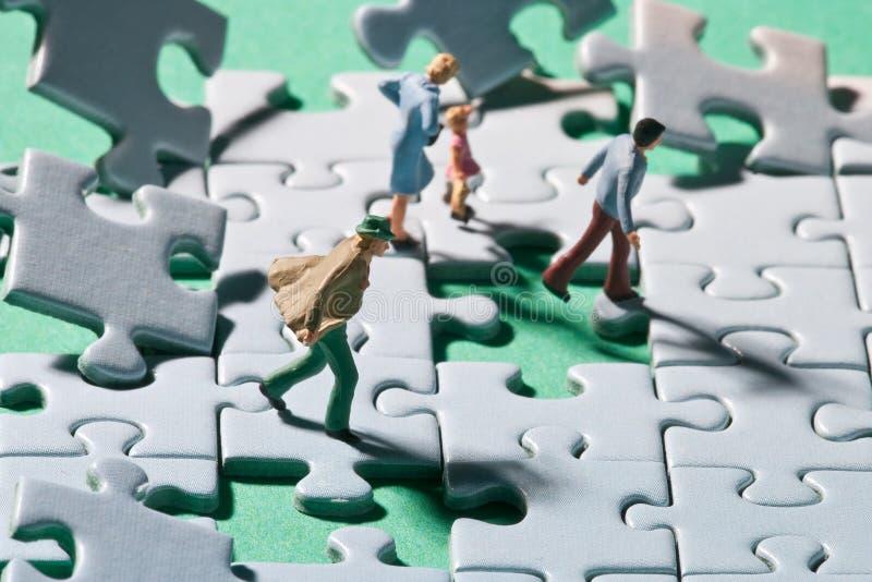 Puzzle tempestoso immagine stock