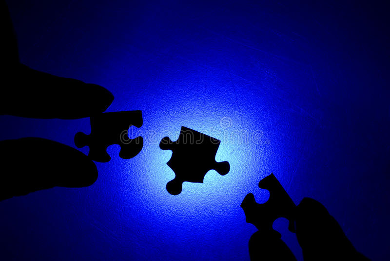 Puzzle Together royalty free stock image