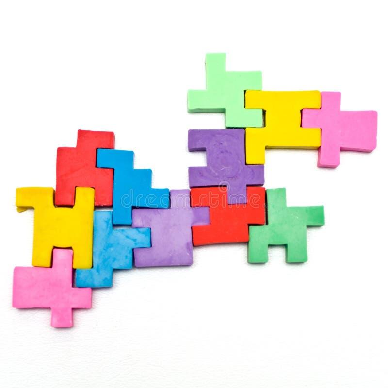 Puzzle variopinto fotografia stock libera da diritti