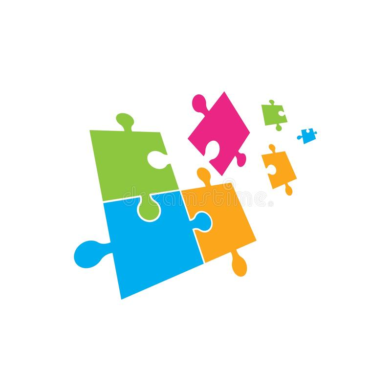 Puzzle Vector Illustration design stock illustration