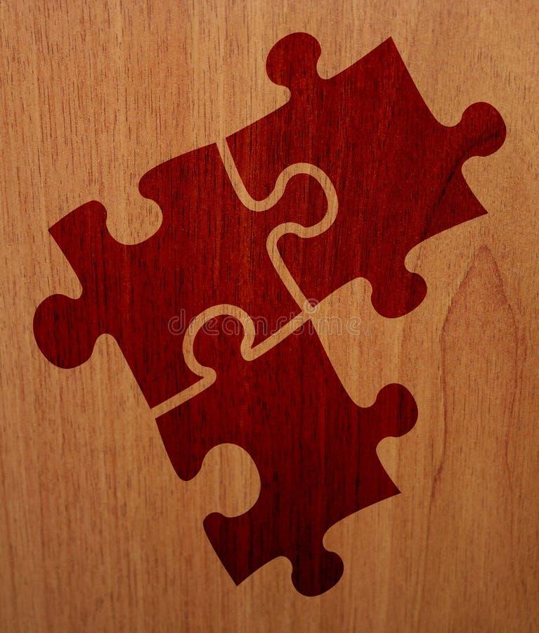 Puzzle - versione di legno fotografia stock