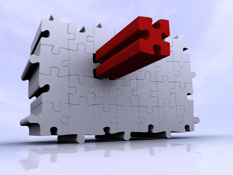 Puzzle wall royalty free illustration