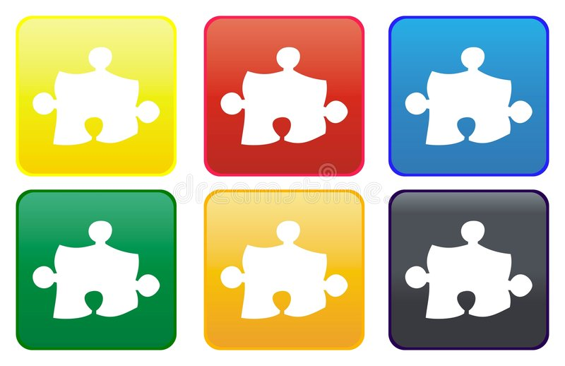 Puzzle web button royalty free illustration