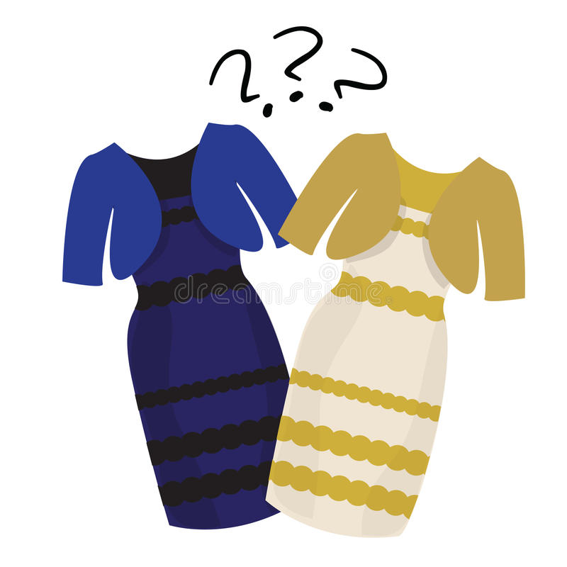 What color is the dress gold and white or black