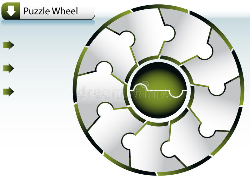 Puzzle Wheel Chart. An image of a Puzzle Wheel Chart vector illustration