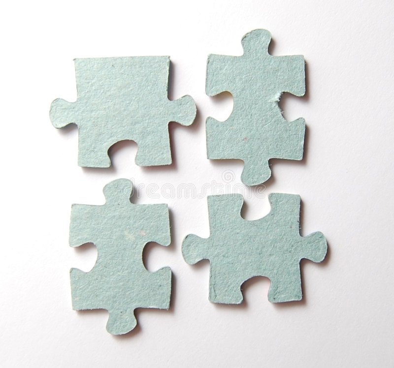 Puzzle on white royalty free stock image