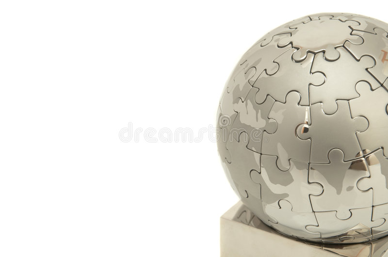 Puzzle world royalty free stock images