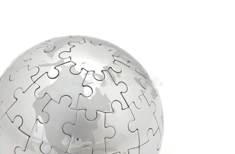 Puzzle world stock images