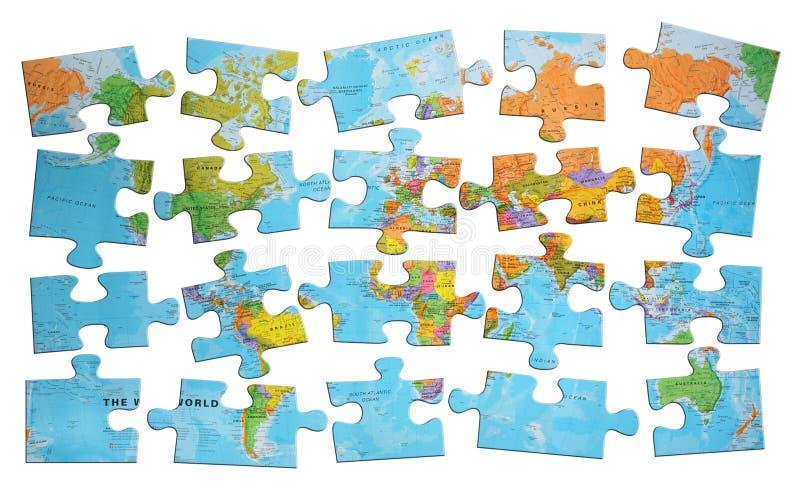 Puzzle world stock photography