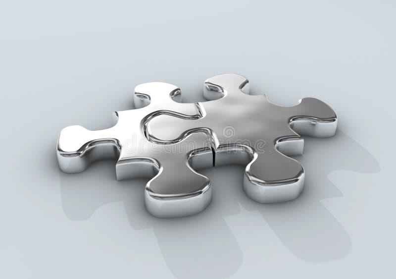 puzzle wspólne ilustracja wektor