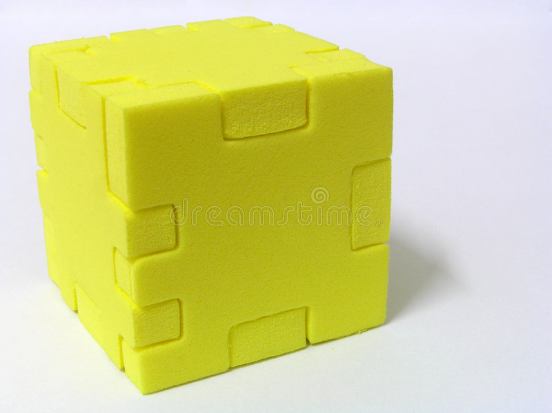 Puzzle - YELLOW royalty free stock image