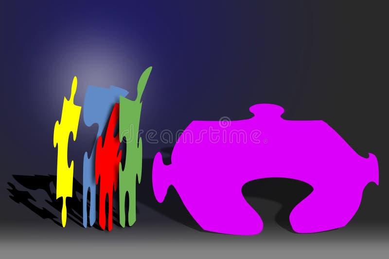 Puzzled stock illustration