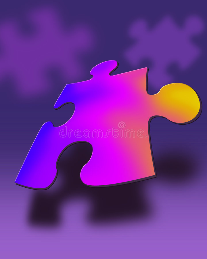 Puzzled stock illustration