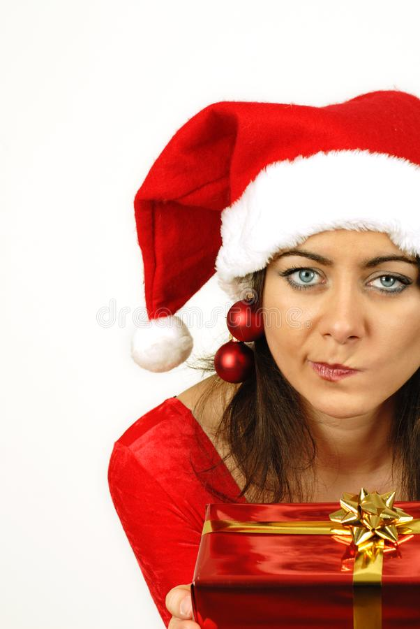 Download Puzzled About Christmas Gift Stock Image - Image: 6887987