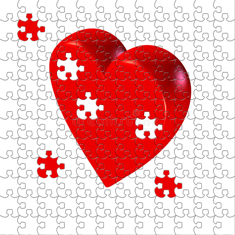 Free Puzzled Heart Royalty Free Stock Images - 2098549