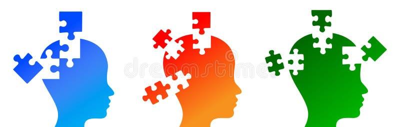 Puzzled mind vector illustration