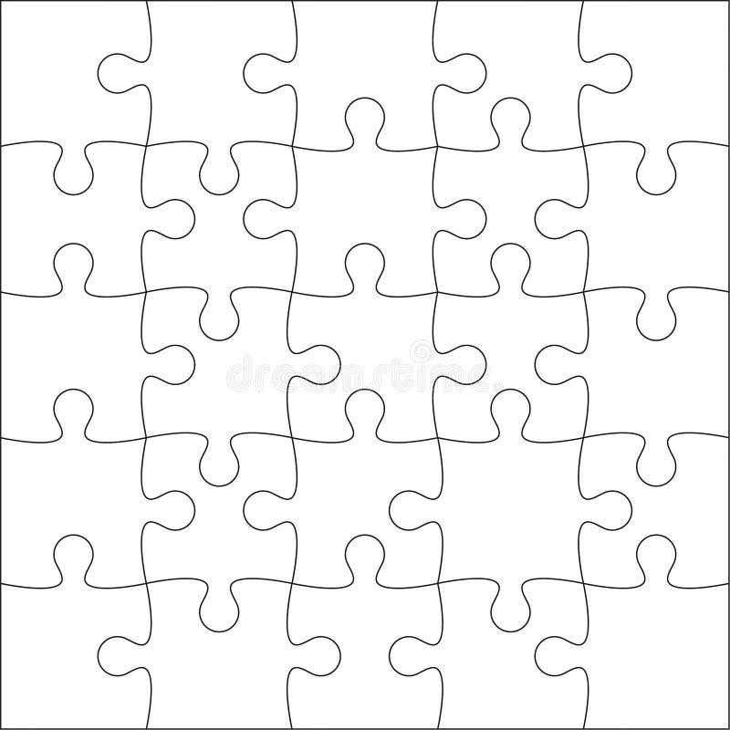 Puzzlefreier raum lizenzfreie abbildung