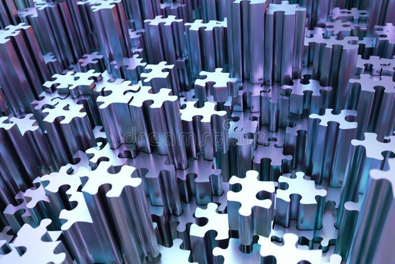 Puzzlehintergrund lizenzfreies stockbild