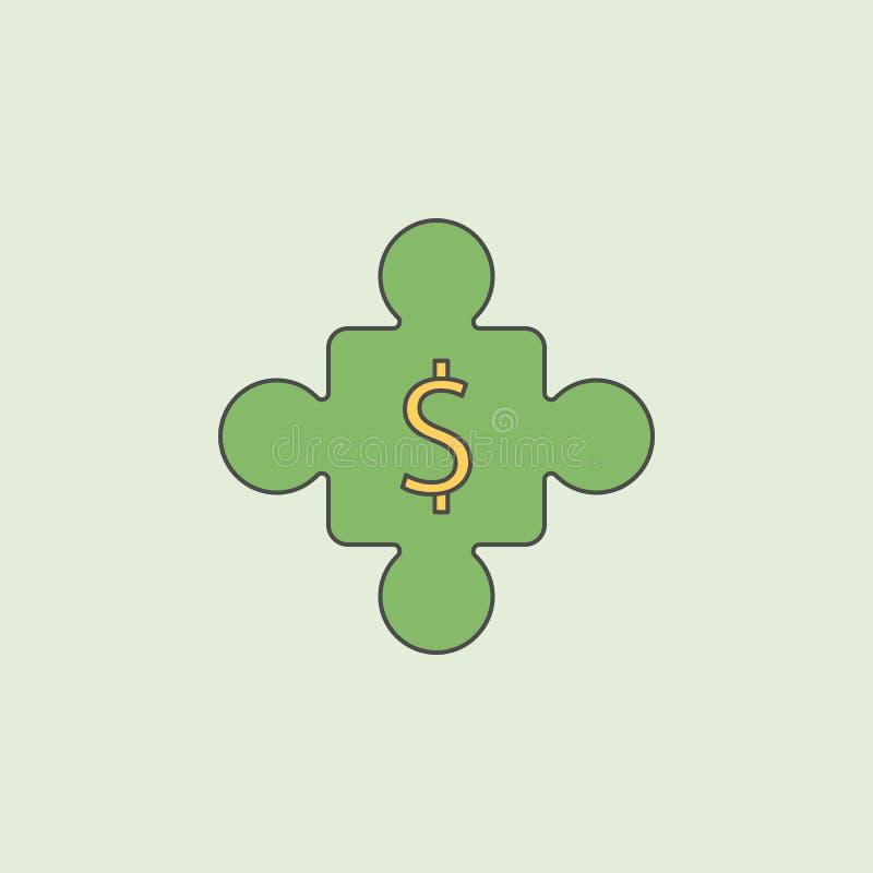 Puzzleikone Element der Bankwesenikone für bewegliche Konzept und Netz apps Puzzleikone des Feldentwurfs kann für Netz benutzt we stock abbildung