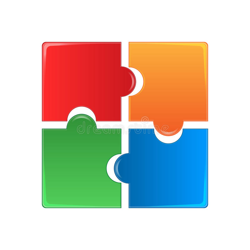 Puzzles colorés illustration libre de droits
