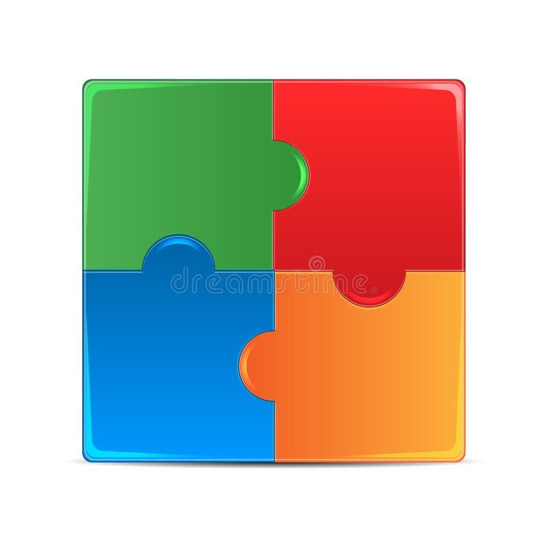 Puzzles colorés illustration de vecteur
