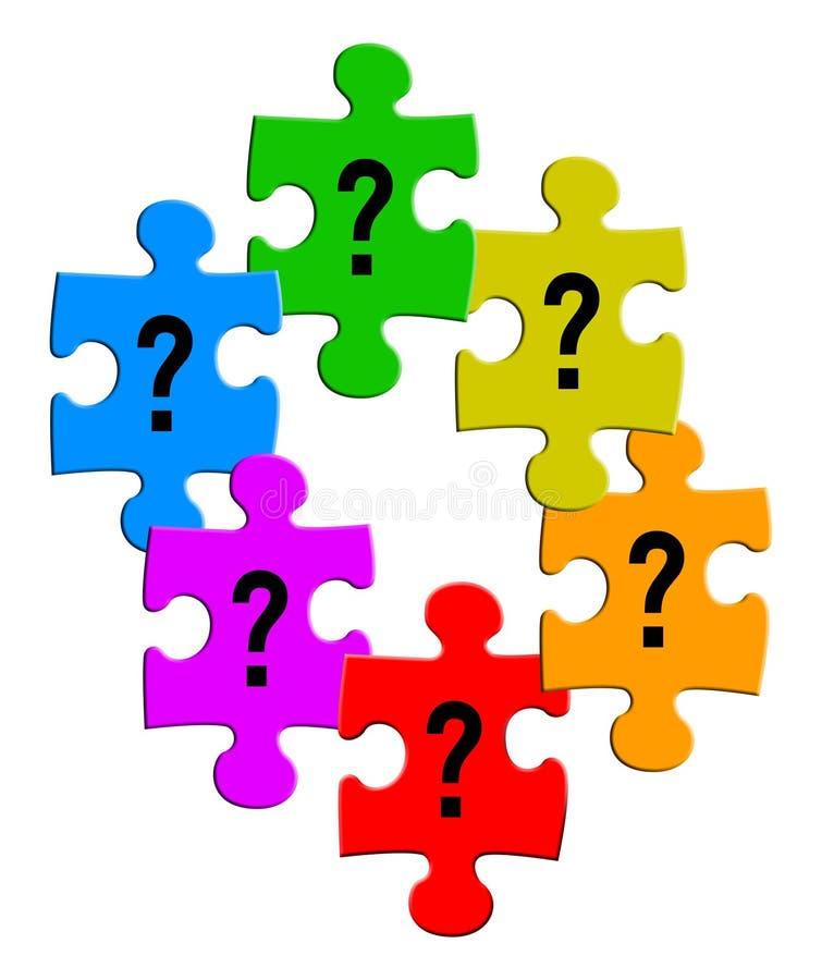 Puzzles de questions illustration de vecteur