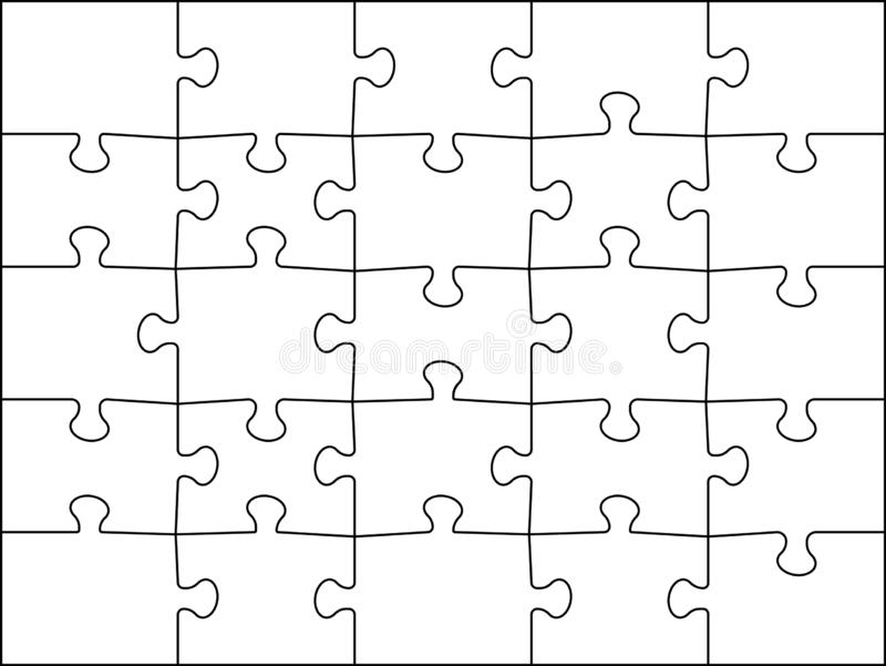 It is a picture of Printable Jigsaw Puzzle Template for drawing