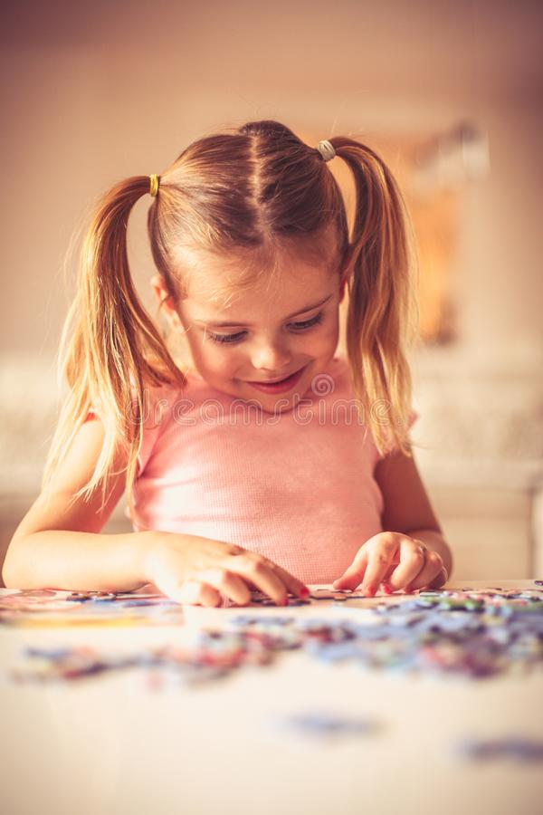 Puzzles is interesting for play. royalty free stock photos